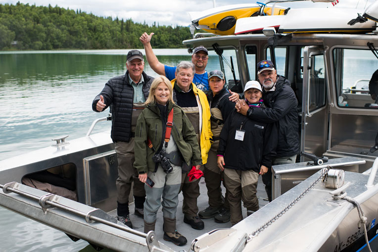 Franklin Graham joined Greta Van Susteren and her husband John Coale for a day of fishing with our military couples.