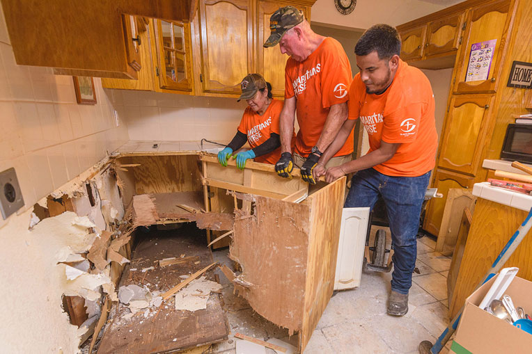 Heavy rains caused flooding across Hidalgo County, Texas, and left many homeowners with nowhere to turn for help. We responded quickly in Jesus' Name and our volunteers are still working hard to remove ruined furniture and appliances and to tear out waterlogged flooring and walls.