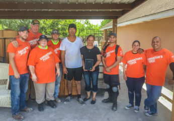 Lupe Aguirre and his wife Maria received a study Bible from our Samaritan's Purse volunteers. Both of them trusted Christ after hearing the Gospel from our volunteers.