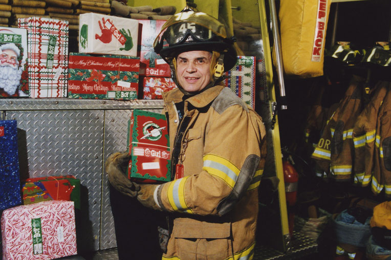 In the months after 9/11, firefighters and school children in New York City helped collect thousands of shoebox gifts for boys and girls in Afghanistan.