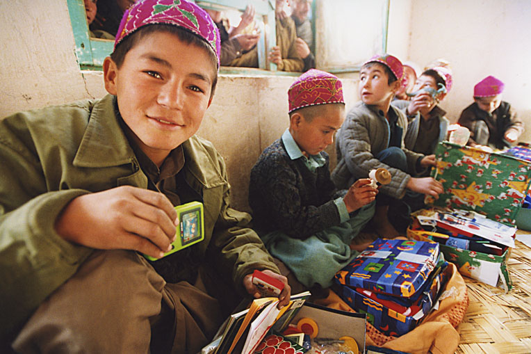 In 2002, we distributed nearly 120,000 shoebox gifts to children in Central Asia.