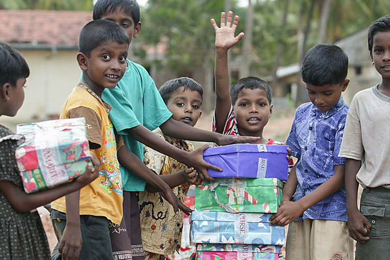 In 2005, a special Easter collection provided 270,000 boys and girls in Asia with shoebox gifts after an earthquake in the Indian Ocean caused a series of devastating tsunamis.