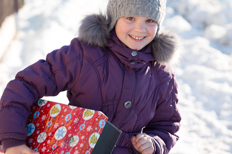 Samaritan's Purse delivered shoeboxes to Moldova, one of the poorest countries in Europe.