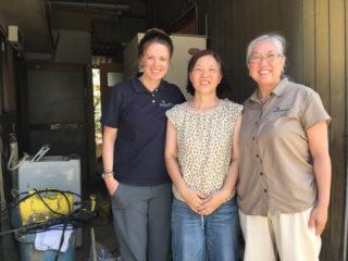 Some of the Samaritan's Purse team with homeowner Yumiko Hironishi.