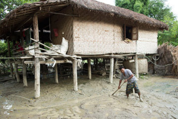 Each year monsoon rains threaten parts of Myanmar with catastrophic flooding.