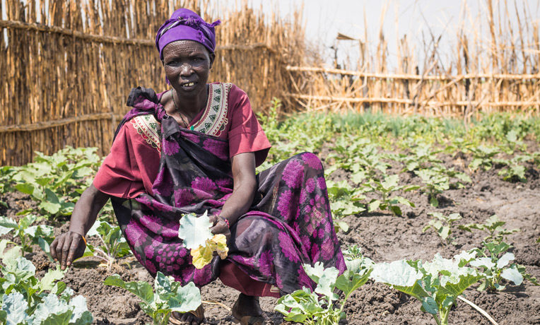 Martha is a lead farmer in South Sudan. Through Samaritan's Purse she learned how to more productively plant vegetables for a greater crop yield.
