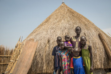 Sarah and her five children could be facing far more challenging circumstances if it were not for Samaritan's Purse food assistance and nutrition programs in South Sudan. The support has provided stability for her family and improved their health so the kids can attend school regularly.