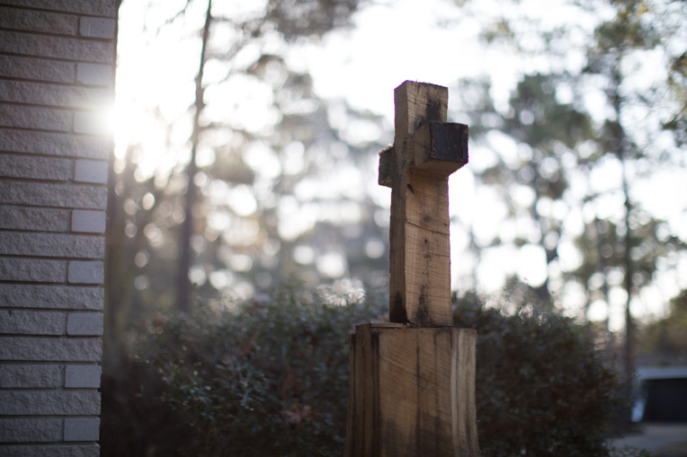 One of our volunteers carved a downed tree into a cross. We are serving in Texas as Christ's hands and feet, and we pray many in the region would turn to Him.