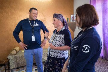 The Samaritan's Purse team encouraged Anka (center) during their visits.