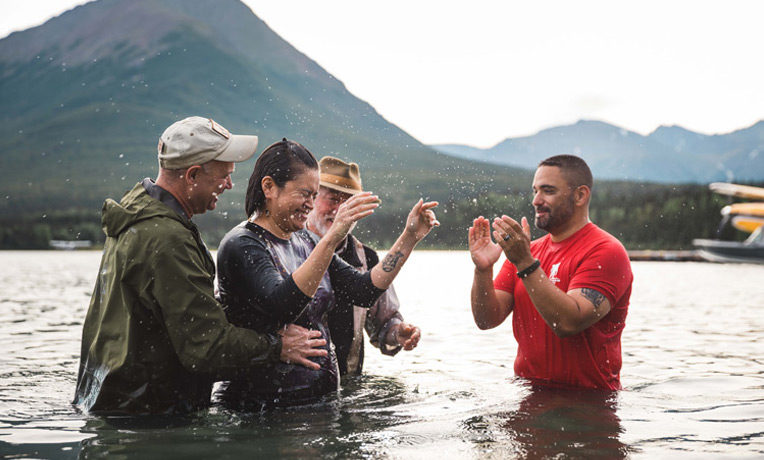 Marine Master Sergeant Al Aranda and his wife LeeAnn received Jesus as their Lord and Savior at Samaritan Lodge. The couple was also baptized.