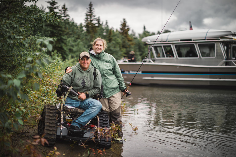 Army Staff Sergeant Bobby Dove and his wife Emmy enjoy a day on our boat the Jay Hammond exploring and fishing on Lake Clark.