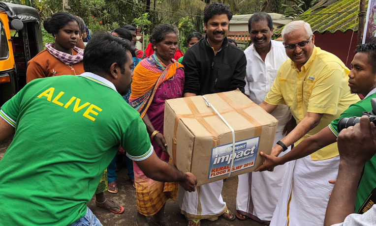 Our partners are distributing critical relief supplies to hurting families affected by flooding in India.