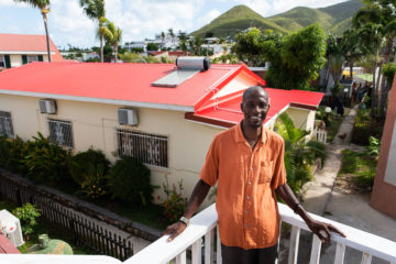 Julian John's roof was destroyed when Maria hit St. Martin. After he and his wife prayed, Samaritan's Purse teams showed up and offered to rebuild his roof.
