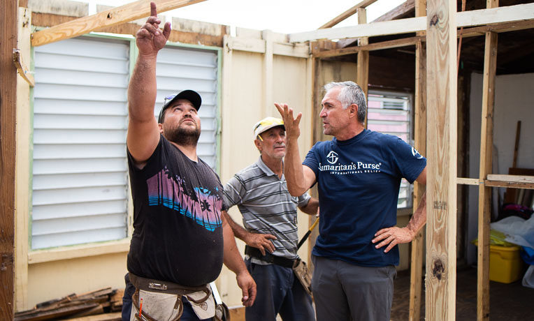 Samaritan's Purse is partnering with local churches to rebuild homes and churches across Puerto Rico.