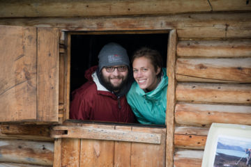 The couple was inspired by their visit to Dick Proenneke's historic site. Proenneke was a naturalist whose love for Alaska led him to build a cabin in the last frontier, where he lived for more than 30 years.
