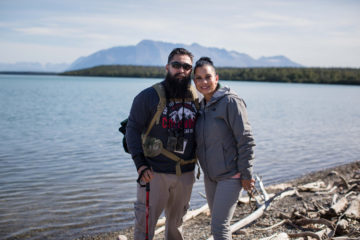 Army Corporal Rob Apodaca and his wife Monica spent time last week exploring Alaska and exploring their faith and marriage. They both made Christ their Lord and Savior last week and were baptized.