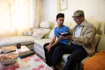 Since Chuka introduced Sampil to Christ, they often study the Bible together.