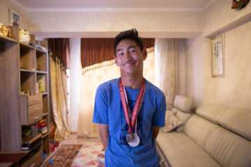 Sampil never dreamed that he'd become an Special Olympic medalist.
