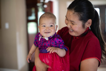 Narangarav is grateful to Samaritan's Purse for helping her daughter Sarana receive lifesaving heart surgery.