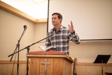Corey Lynch, director of Alaska Projects for Samaritan's Purse, encourages church members to enjoy and to use the new building for God's glory.