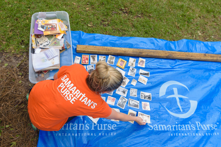 Our volunteers helped homeowners sort through and salvage cherished valuables.