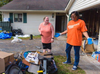 As a retired Air Force veteran, Debra Kenyear (right) was excited to serve another military family in New Bern.
