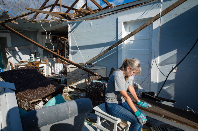 Weary homeowners have returned to the Florida Panhandle to find shambles and destruction.