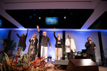 The Tommy Coomes Band led conference participants in worship.