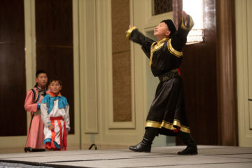 Deggie is 14 and danced a traditional Mongolian dance. He had surgery at Mayo Clinic when he was three years old. He became a Christian at age 7 when he attended Heart Camp.
