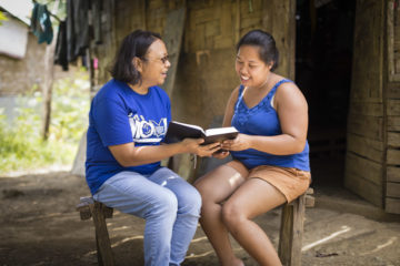 Mylyn was one of the first to participate in the village Bible study.