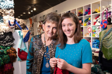 Alathia's maternal grandmother Sue taught her how to crochet, but Sue says that the teen has a natural ability to be able to complete stitches without needing to look at her work.