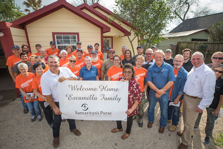 Pearl and Carlos Escamilla recently moved back into their home thanks to help from Samaritan's Purse volunteers.