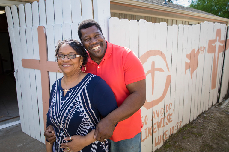 Through our rebuild project in Texas, we helped George and Arva Dorsey, along with hundreds of other homeowners, restore their home severely damaged last year by Hurricane Harvey.