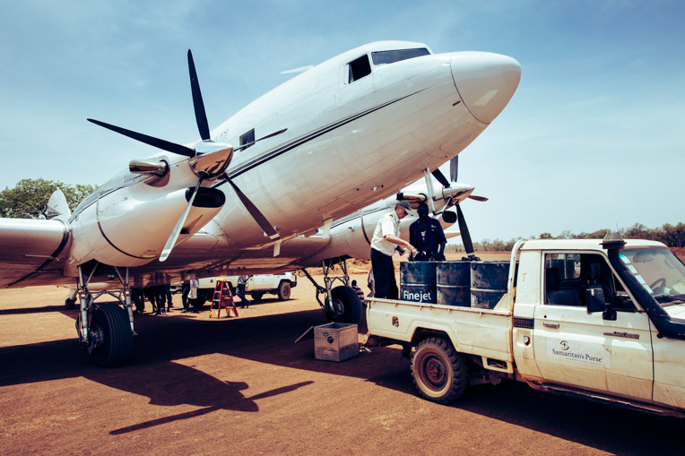 We used our DC-3 aircraft in South Sudan to carry cleft lip patients for surgery in Juba.