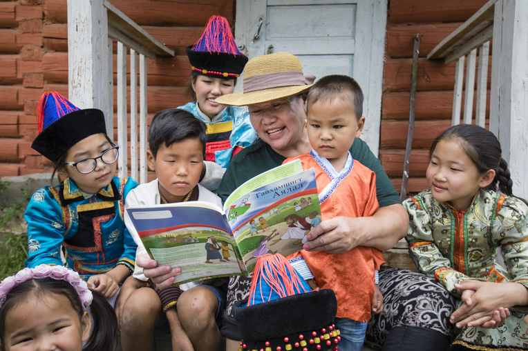 Children from an unreached people group in Mongolia learn about God through The Greatest Journey discipleship course.