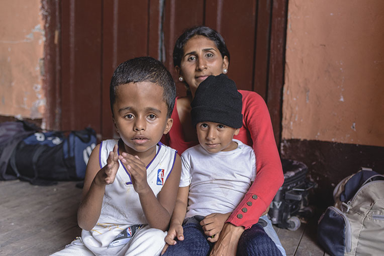 Nazareth left Venezuela to seek a better life for her two boys. The economy and the health system there are in disarray.