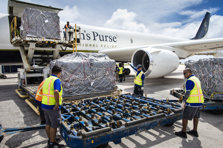 Our DC-8 cargo jet made three flights to the Pacific island of Saipan to deliver emergency relief supplies to hurting people devasted by powerful Typhoon Yutu.
