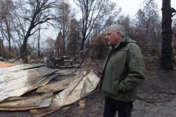 Franklin Graham surveys damage on Christmas Eve throughout Paradise, California.