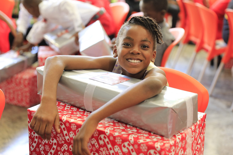 it's a joy-filled Christmas for students at the Greta Home.