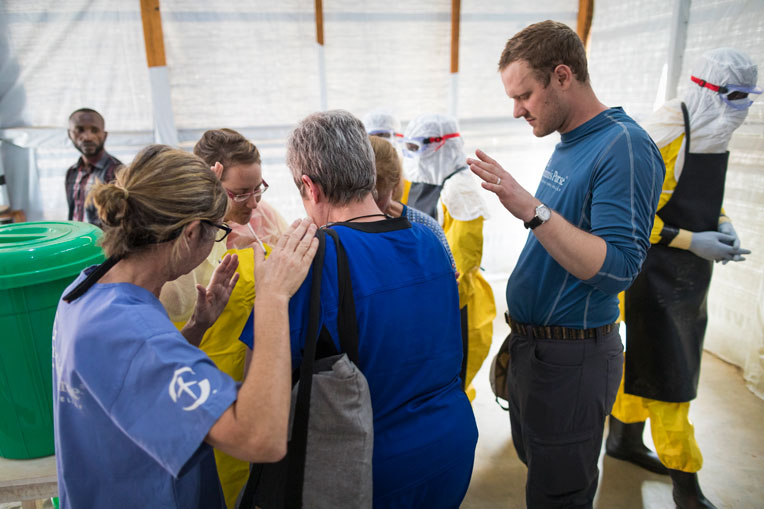 """Alex Wann, Infection Protection and Control Trainer: """"We are reaching out to God to have courage and peace."""""""