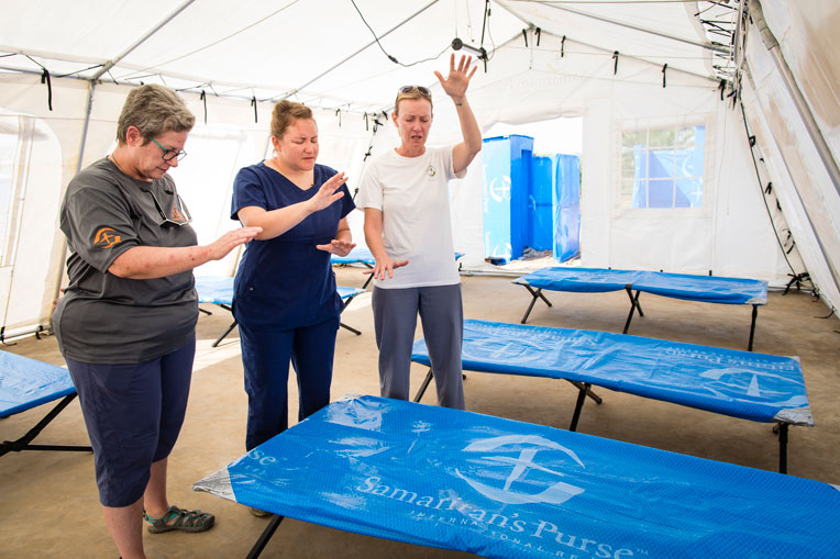 Nurses pray over every bed in the treatment center.