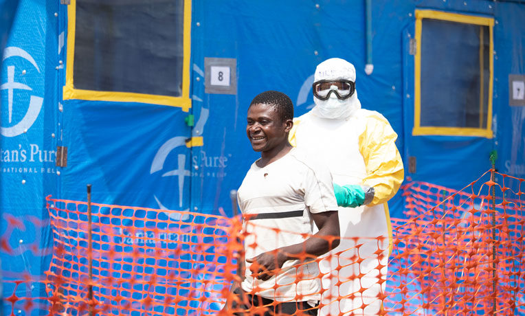 Kavoro was discharged after Ebola test results were negative. Samaritan's Purse is in Democratic Republic of Congo providing international disaster relief to a growing Ebola crisis.