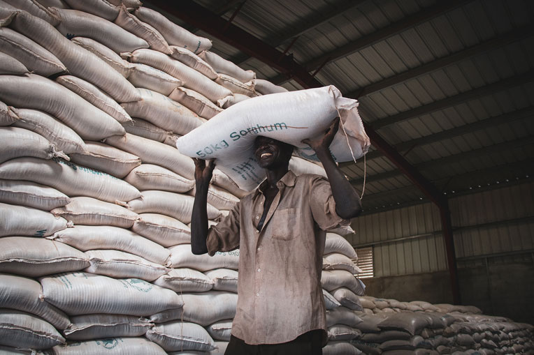 Food rations can feed a refugee family for up to one month.