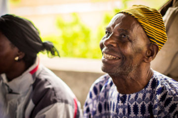 Saah can see for the first time in years after receiving cataract surgery from our medical team.