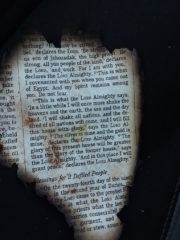When Tammy returned home, she found a Bible page displaying Haggai 2:6-9 laying on her former doorstep.