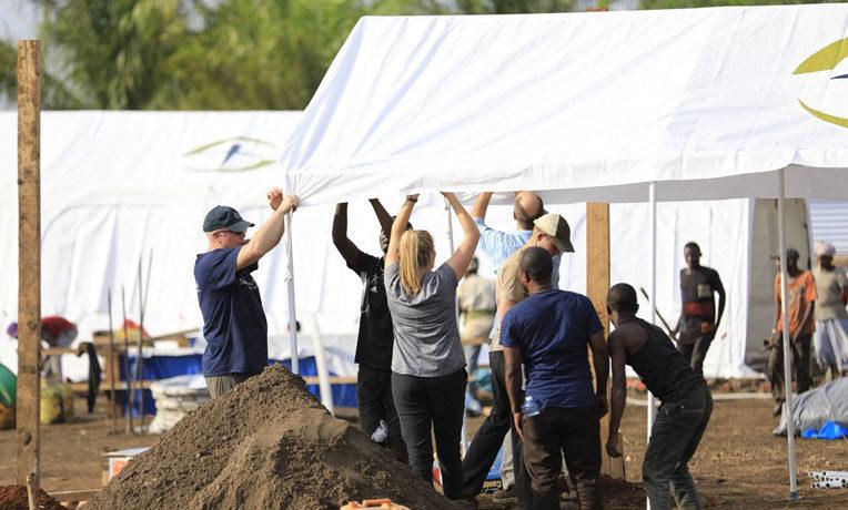 Samaritan's Purse teams set up the Ebola Treatment Center in northeast Democratic Republic of the Congo.
