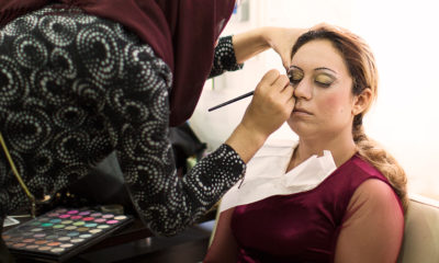 Displaced women find special solace in the salon at the Northern Iraq Community Center.