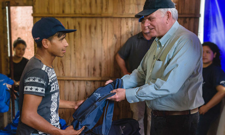 Samaritan's Purse president Franklin Graham helped distribute backpacks and other supplies to Venezuelan's fleeing into Colombia.