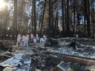 Volunteer work at properties in Paradise, California, where wildfires destroyed many neighborhoods.