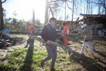 Edward Graham, son of Samaritan's Purse President Franklin Graham, has been working in Alabama.